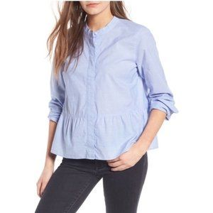 Madewell Lakeside Button Front Peplum Top